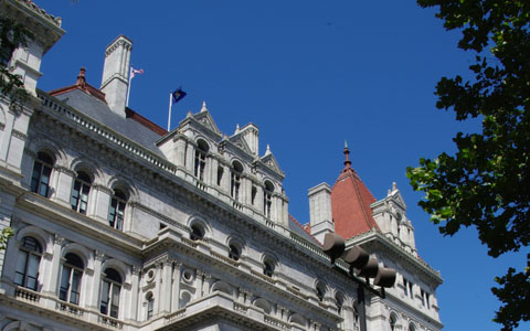 State capital in Albany