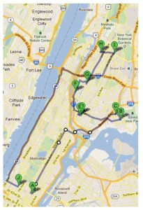 Map of GCFP Bronx Route