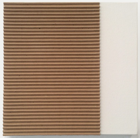 Untitled (Corrugated on Canvas), 2014