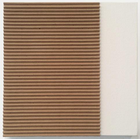 Untitled (Corrugated on Canvas), 2014