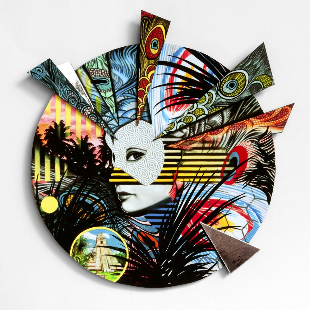 Peacock Artwalk Mask , 2014