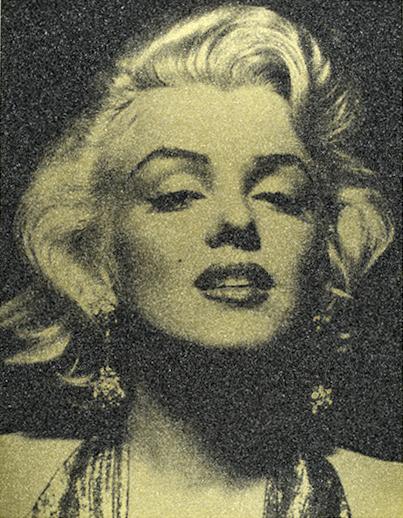 Marilyn Portrait (Liquid Gold), 2013