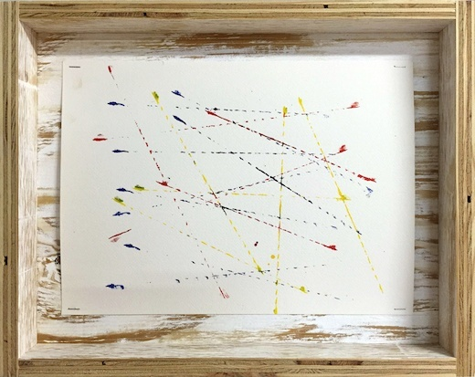 Snap Lines in Red Yellow and Blue (study 7), 2015