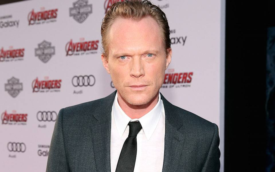 "HOLLYWOOD, CA - APRIL 13:  Actor Paul Bettany attends the world premiere of Marvel's ""Avengers: Age Of Ultron"" at the Dolby Theatre on April 13, 2015 in Hollywood, California.  (Photo by Jesse Grant/Getty Images for Disney)"