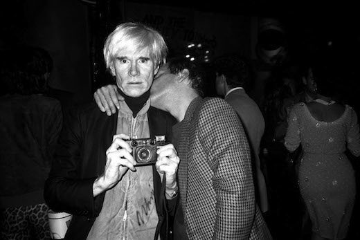 Andy Warhol and Steve Rubell, 1984
