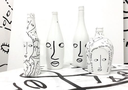 Found Bottles x 4, 2015