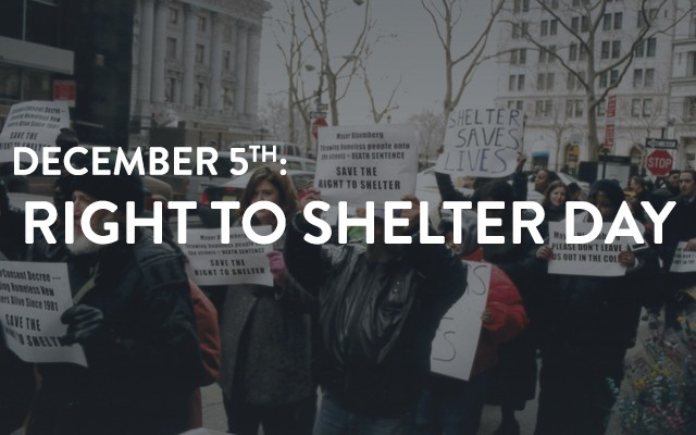 Right To Shelter Day