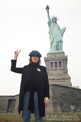 John Lennon, Statue of Liberty, NYC - 1974, 2017