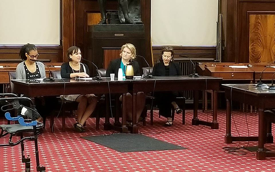 Coalition for the Homeless and the Legal Aid Society testifying at City Hall