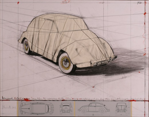 Wrapped Volkswagen (Project for 1961 Volkswagen Beetle Saloon), 2013