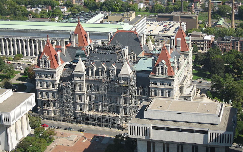 The State capitol building in Albany