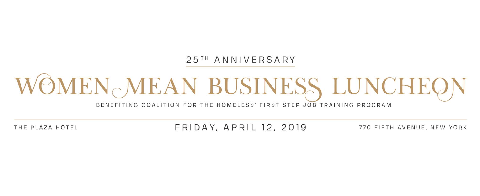Women Mean Business Luncheon 2019