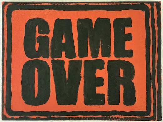 Game Over (Orange Red), 2018