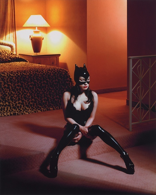Breaunna in Cat Mask, Las Vegas Hilton, 2001